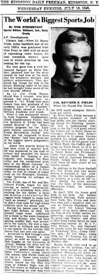 KennethEFields_USMA1933_KingstonDailyFreeman_Jul181945