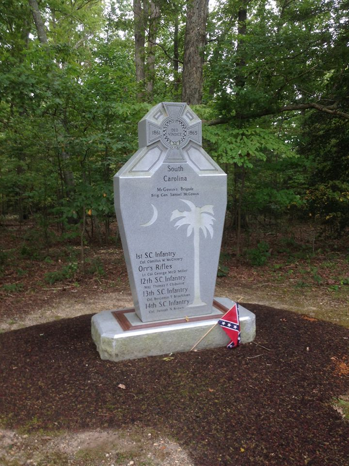South Carolina monument at The Bloody Angle, dedicated in 2009..jpg